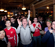 EPL fans at Pub