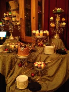 Holiday table -dessert spread