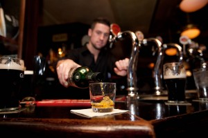 staff_ whiskey pour