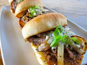 Fado Irish Pub Bleu Cheese and Lamb Sliders