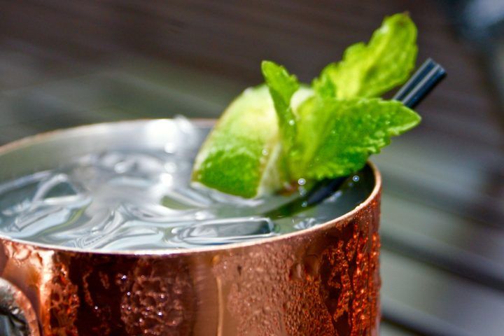 close up on moscow mule