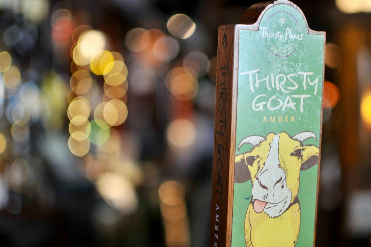 thirsty goat amber beer tap handle